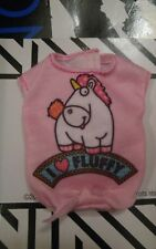 NEW PINK  DESPICABLE ME UNICORN I Love Fluffy top Barbie doll