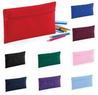 Quadra Kids Plain Pencil Case School Stationery Bag Office Polyester Zipper Case
