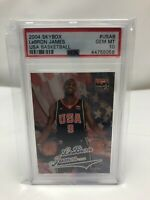 2004 Skybox USA BASKETBALL LeBron James ROOKIE RC #USAB Graded PSA 10 Gem Mint