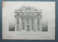AR93) Architektur Wien 1893 Akademie d Wissenschaft Gebäude Holzstich 28x39cm