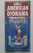 """AUGUST LT GREEN BIKINI GIRL AMERICAN DIORAMA 1:24 SCALE FEMALE GIRL 3"""" Figure"""