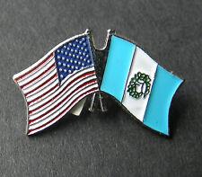 GUATEMALA INTERNATIONAL COUNTRY USA COMBO FLAG LAPEL PIN BADGE 1 INCH