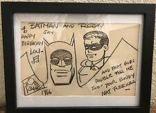 Original Drawing Batman & Robin by Bob Kane