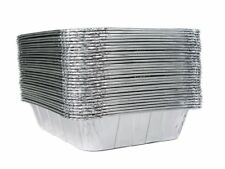 30 Pack Aluminum Foil Pans Half-Size Deep Disposable Steam Cooking Table Trays
