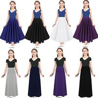 Kids Girls Vintage Full Circle Long Skirt Liturgical Praise Spirit Dance Dress