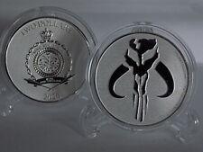 2020 Niue $2 Star Wars: MANDALORIAN MYTHOSAUR 1 oz Fine Silver bu Coin in Caps.