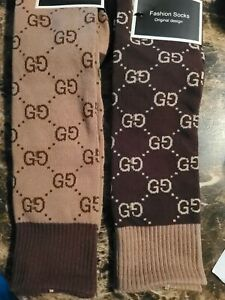 NEW US Cotton G g Socks Design One Size Fits 100% (Light Brown)