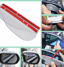 2x Car Rearview Side Mirror Transparent Rain Board Sun Visor Shield For Cadillac