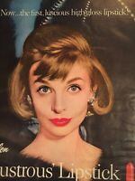 Vintage Magazine Print Ad  Advertisement Photoplay Jan 1958 Revlon Lipstick