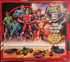 Hot Wheels Battle Force 5 2009 Collector Catalog Included DVD  Promo SDCC