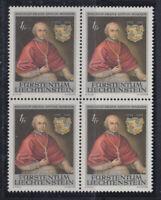 Liechtenstein 1974 Sc 552 X 4 Bishop Painting mint never hinged