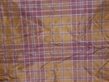 "Lee Jofa ""Gibson Silk Plaid"" by the yard color gilt and scarlet"