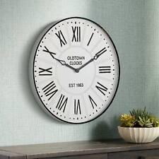 """Oldtown 23 1/2"""" Wide Vintage Style Wall Clock"""
