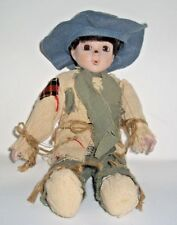 """Sammy Scarecrow 11"""" Porcelain Doll House of Lloyd Private Collection Fall Deco"""