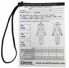 Tactical Combat Casualty Care Card Treatment Documentation Wound Medic IFAK EMS