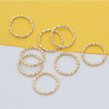 100p 8/15mm Gold Silver plated Twisted open Round Ring Jumprings connector craft