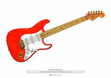 Hank Marvin's Fender Stratocaster ART POSTER A2 size