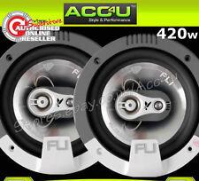 """FLI Integrator 6 6.5"""" 420 Watts 3-Way Car Door Coaxial Speakers Set With Grills"""