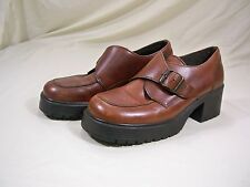 American Eagle Shoes 1977 Buckle Slip On Brown Oxfords Women's Size 7