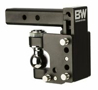 "B&W Hitches TS10056 Tow & Stow 2-5/16"" Adjustable Pintle Hitch Ball Mount 8"" dro"