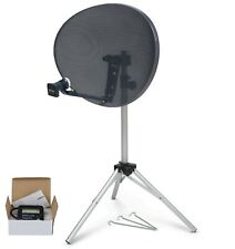 80cm Dish quad LNB & tripod + Satellite Finder For Sky, portable camping caravan