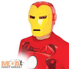 Iron Man Mask Adult Fancy Dress Avengers Marvel Superhero Mens Costume Accessory