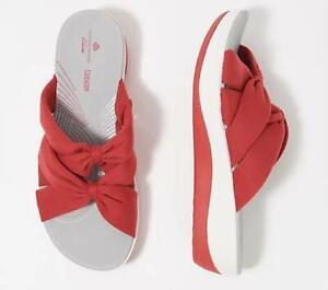 Clarks Womens Cloud Stepper Jersey Slide Sandals-Arla Dristi $54 TINI {&}
