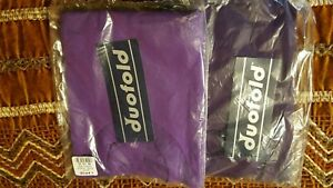 2 Duofold Men's Short Sleeve Pocket Tee Crew Neck Purple Size Lg.NWT