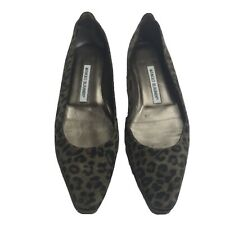 Manolo Blahnik Flats Slip On Shoes Cheetah Women's 37 7