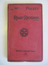The 'Rapid' Pocket Ready Reckoner (Interest & Discount tables) 1940