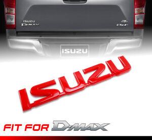 Red ISUZU Logo Emblem Badge Sticker 1Pc Universal Car