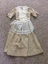 WESTERN, HOMESTEAD FLORAL WOMAN'S COSTUME - SIZE 6-8 - TOP, SKIRT & APRON