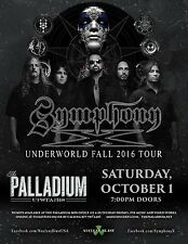 "SYMPHONY X ""UNDERWORLD FALL 2016 TOUR"" WORCESTER, MA CONCERT POSTER - Prog Metal"
