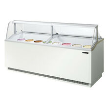 Turbo Air TIDC-91W, 91-inch Ice Cream Dipping Cabinet, White