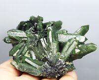 Rare NATURAL Skeletal Elestial Green QUARTZ Crystal Cluster Tourmaline Specimen