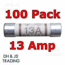 100x 13a Domestic Fuses Plug Top Household Mains 13amp Cartridge Fuse