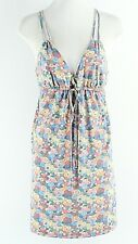 Quicksilver M Blue Yellow Pink Multi Polyester Rayon Elastane Knit Dress G205
