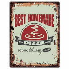 PP0394 Rust Homemade PIZZA Sign Store Shop Cafeteria Restaurant Kitchen Decor