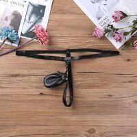 Men's Underwear Synthetic Leather Zipper Pouch Thong Jockstraps G-string Briefs