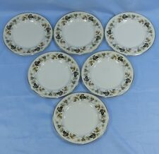 "ROYAL DOULTON LARCHMONT 6 FINE CHINA SIDE TEA PLATES 6 1/2"" diam"