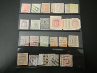 Lot of HAMBURG German State Stamps  1860s