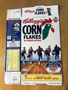 1992 Kellogg's Corn Flakes USA Basketball Dream Team Cereal Box Flattened