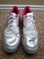 Adidas US Size 9 men's Adizero F50 TRX FG Soccer Leather White Silver Pink