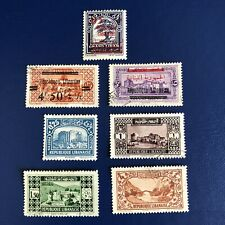More details for lebanon 1928-30 pictorial stamps-cedar tree & historical sites -mint & used