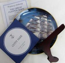 "Great Clipper Ships Cutty Sark Plate Franklin Porcelain 9"" Coa #1 Box Pearce fr"