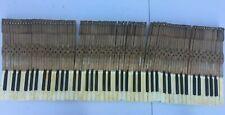 Antique Full Set 88 Wood Ivory Piano Keys from 1914 Lockwood Upright Piano