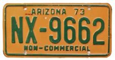 Vintage Arizona 1973 PICK-UP TRUCK License Plate, NX-9662, DMV Clear, Ford Chevy