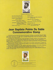 #8707 22c Jean Baptiste DuSable #2249 USPS Souvenir Page