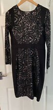 Ladies Size 14 Bodycon Dress Black Papaya
