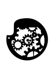 High Detail Gear Template Airbrush Stencil - Free UK Postage